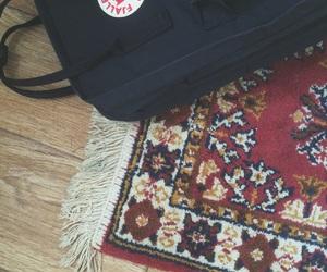 fjallraven kanken, floor, and hipster image