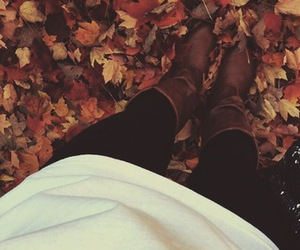 boots, fall, and girl image
