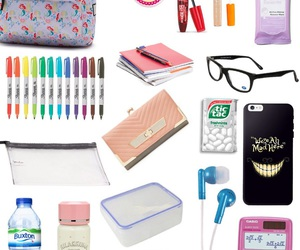 school, what's in my bag, and back to school image