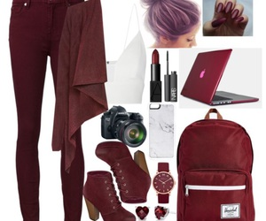 maroon and outfits image