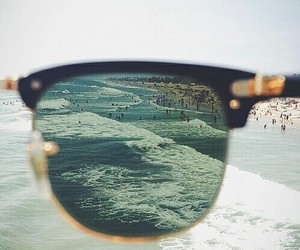beach, glasses, and summer image