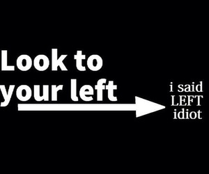 funny, left, and idiot image