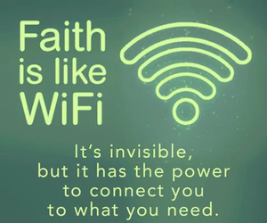 faith, wifi, and god image