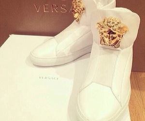 Versace, shoes, and white image