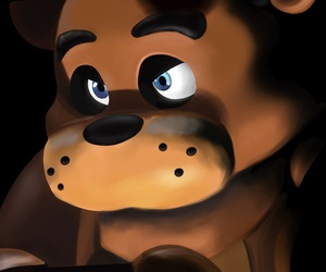 digital art, drawing, and Freddy image