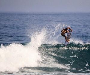 surf, gabriel medina, and waves image
