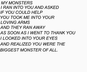monster, quote, and sad image