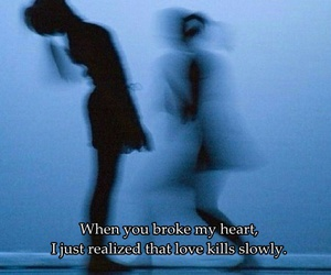blue, broken heart, and slowly image