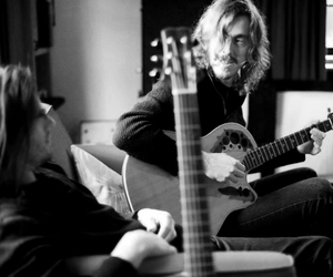 black and white, guitar, and opeth image