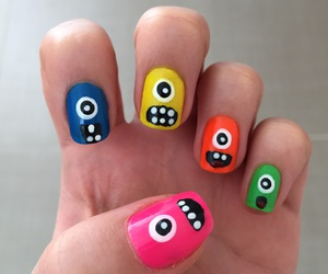 colors, monsters, and nail art image