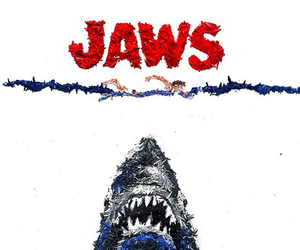 art, blue, and jaws image
