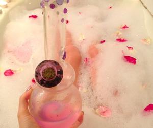bong, weed, and pink image