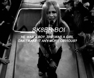 Avril Lavigne and sk8er boi image