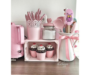 beautiful, cup cake, and kitchen image