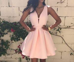 dress, pink, and adorable image