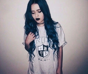 grunge, blue, and blue hair image