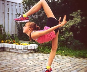 dancer, girl, and gymnastics image