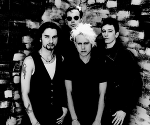 dave gahan, depeche mode, and martin gore image