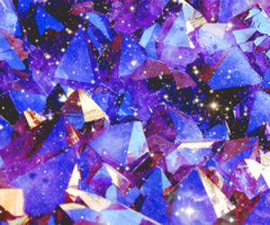 crystal, blue, and purple image