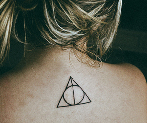 blonde, the deathly hallows, and harry potter image