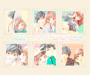 anime, aoharaido, and ao haru ride image