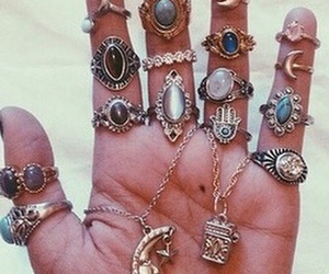 rings, hipster, and accessories image