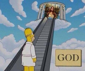 god, lana del rey, and simpsons image