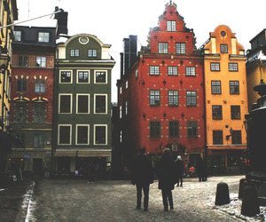buildings, colorful, and vintage image