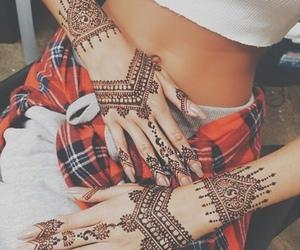 black, fashion, and henna image