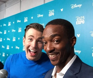 chris evans, Marvel, and anthony mackie image
