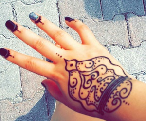 fashion, henna, and trend image