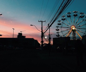 indie, ferris wheel, and sky image