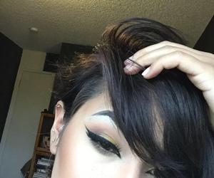 alt girl, black hair, and bodymods image