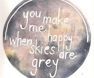 happy, quote, and grey image