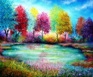 paradise, trees, and colorful image