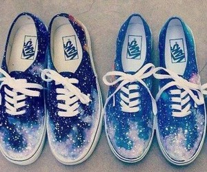 vans, shoes, and galaxy image