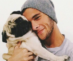 boy, dog, and pug image