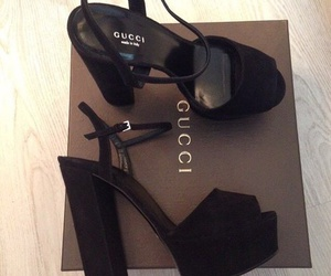 gucci, shoes, and black image
