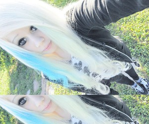 alt girl, blonde, and dyed hair image