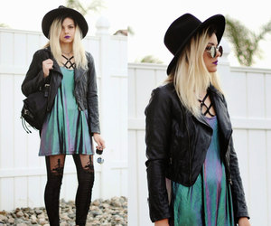 fashion, hat, and long hair image