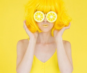 yellow, lemon, and hair image