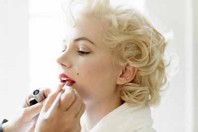 blonde, lips, and marilyn image
