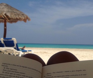 book, ocean, and read image