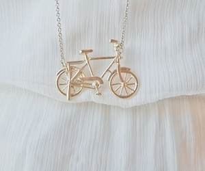 necklace, bike, and gold image