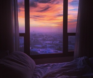 beautiful, room, and sunset image
