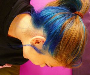 blue, hair, and earrings image