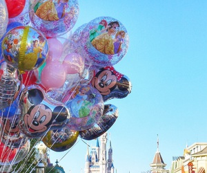 balloons, beautiful, and disney world image