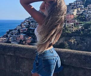 bikini, hairstyle, and ocean image