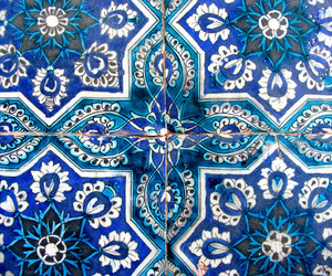 blue, art, and pattern image