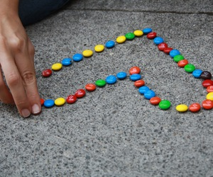life, m&m, and skittles image